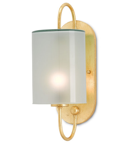 Currey & Company 5000-0020 Glacier Wall Sconce In Contemporary Gold Leaf