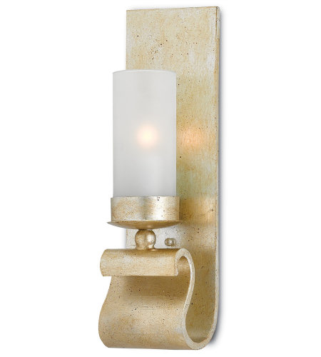 Currey And Company 5000-0032 Avalon Wall Sconce In Silver Granello