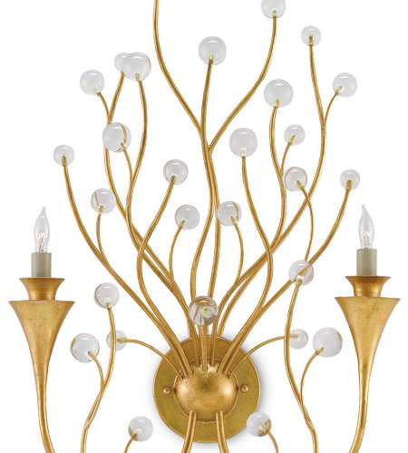 Currey & Company 5000-0081 Iona Wall Sconce In Contemporary Gold Leaf