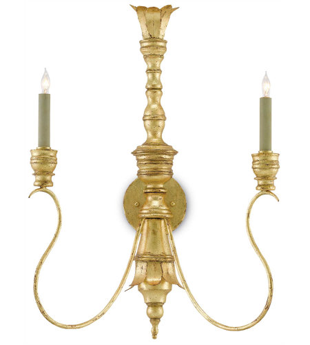 Currey & Company 5000-0084 Grand Palais Wall Sconce In Siena Gold Leaf