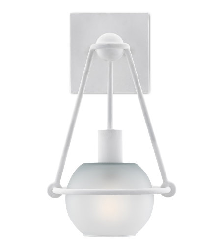 Currey & Company 5000-0120 Halliday Wall Sconce in Gesso White
