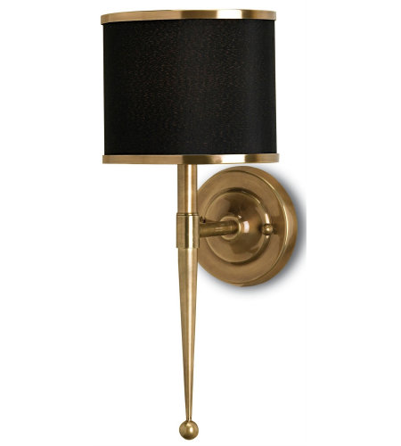 Currey And Company 5021 1 Light Primo Wall Sconce 1l In Brass