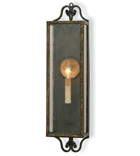 Currey And Company 5030 Wolverton Wall Sconce Currey In A Hurry In Bronze Verdigris