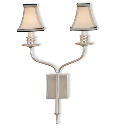 Currey And Company 5106 Highlight Wall Sconce In Contemporary Silver Leaf