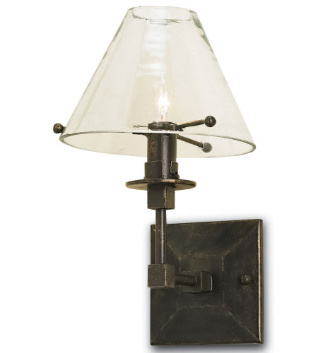 Currey And Company 5127 1 Light Kiran Wall Sconce In Bronze Gold