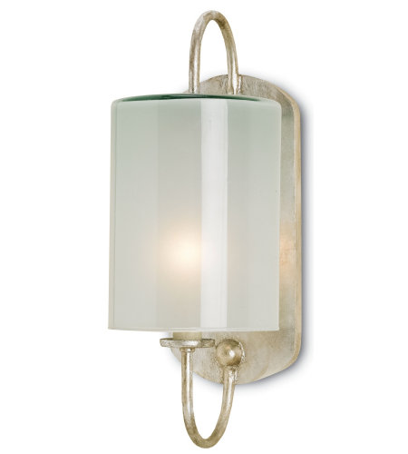 Currey And Company 5129 Glacier Wall Sconce Currey In A Hurry In Silver Leaf