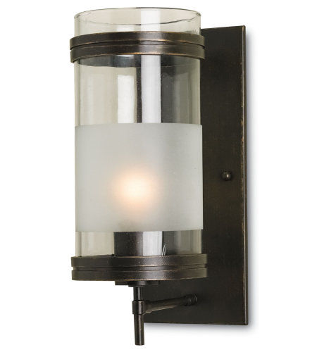 Currey And Company 5130 Walthall Wall Sconce Currey In A Hurry In Bronze Gold