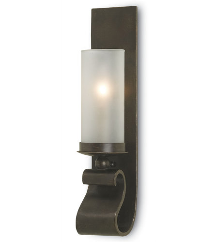 Currey And Company 5148 Avalon Wall Sconce Currey In A Hurry In Wrought Iron/Glass