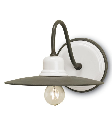 Currey And Company 5154 1 Light Eastleigh Wall Sconce In Hiroshi/White
