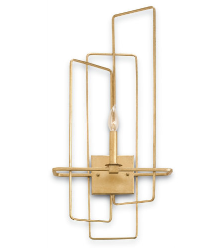Currey & Company 5163 Metro Wall Sconce, Right In Contemporary Gold Leaf