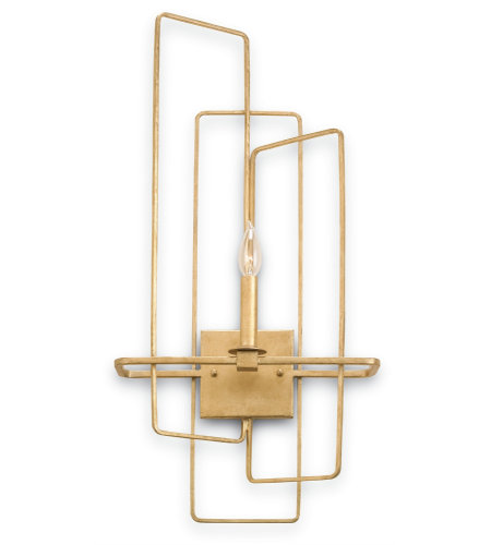 Currey And Company 5164 Metro Wall Sconce, Left In Contemporary Gold Leaf