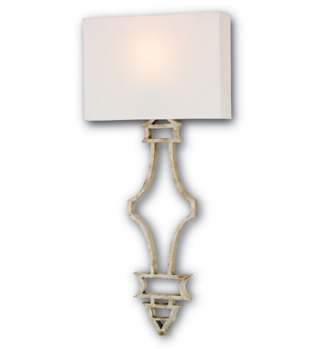 Currey And Company 5173 Eternity Wall Sconce Currey In A Hurry In Silver Granello