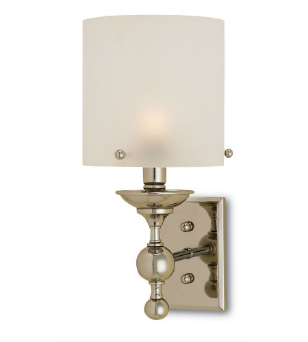 Currey & Company 5198 Pennsbury Wall Sconce in Polished Nickel