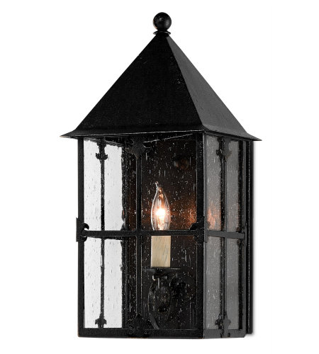 Currey & Company 5500-0006 Faracy Outdoor Wall Sconce, Small in Midnight