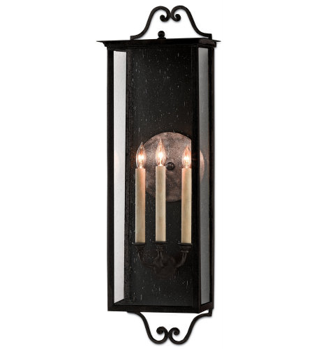 Currey & Company 5500-0007 Giatti Outdoor Wall Sconce, Large in Midnight