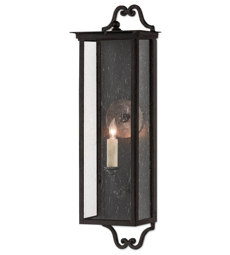Currey & Company 5500-0009 Giatti Outdoor Wall Sconce, Small in Midnight