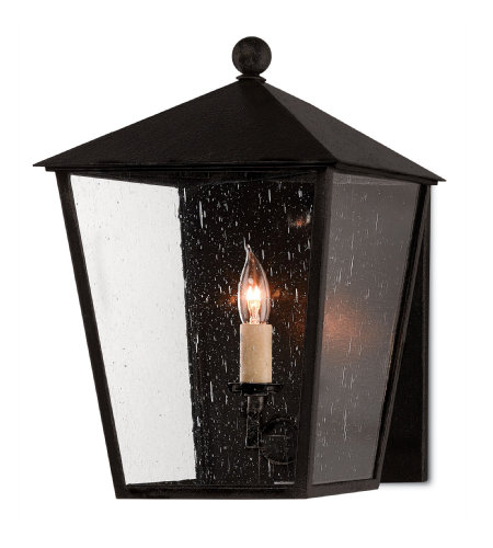 Currey & Company 5500-0012 Bening Small Outdoor Wall Sconce in Midnight