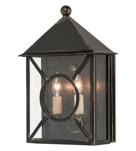Currey And Company 5500-0015 Ripley Outdoor Wall Sconce In Moonlight (Black With Gold)
