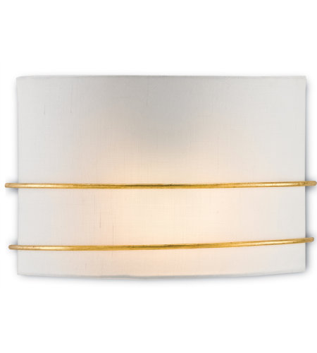 Currey & Company 5900-0019 Corsham Wall Sconce in Contemporary Gold Leaf