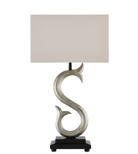 Currey And Company 6000-0002 Loon Table Lamp In Chinois Antique Silver/Black