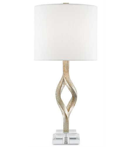 Currey & Company 6000-0071 Elyx Table Lamp in Chinois Silver Leaf