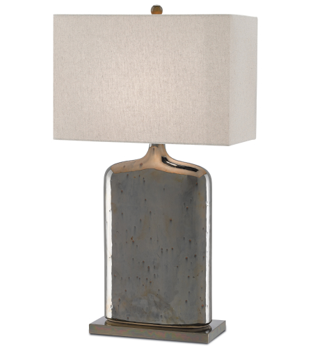Currey And Company 6000-0094 1 Light Musing Table Lamp In Rustic Metallic Bronze/Bronze