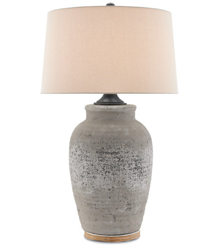 Currey & Company 6000-0149 Quest Table Lamp in Rustic Gray/Aged Black