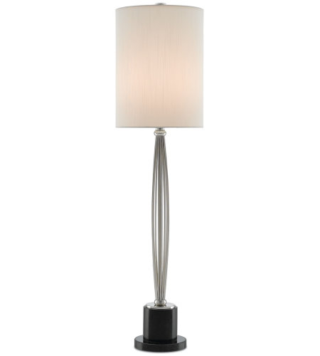 Currey & Company 6000-0188 Clara Table Lamp In Nickel/Black