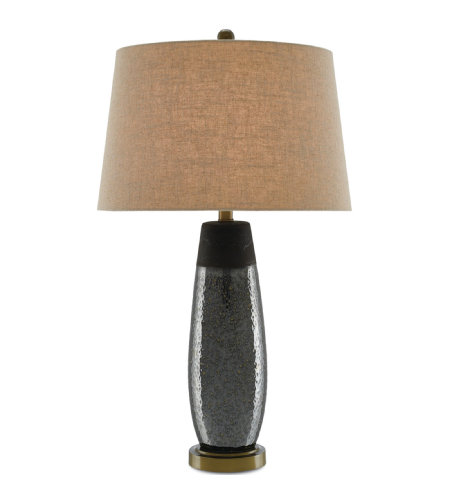 Currey & Company 6000-0201 Rilen Table Lamp in Rustic Metallic Bronze/Antique Brass