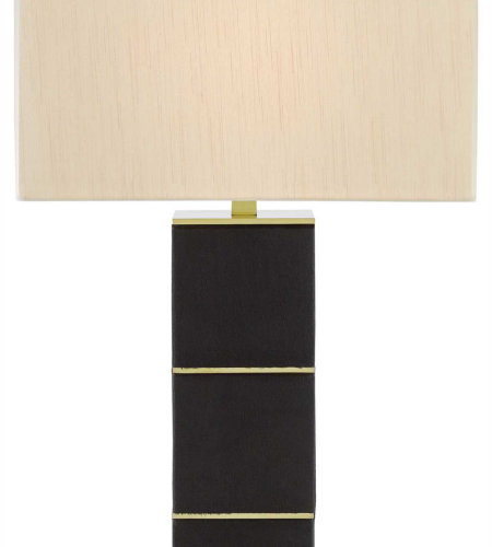 Currey & Company 6000-0228 Blake Table Lamp In Black/Brushed Brass