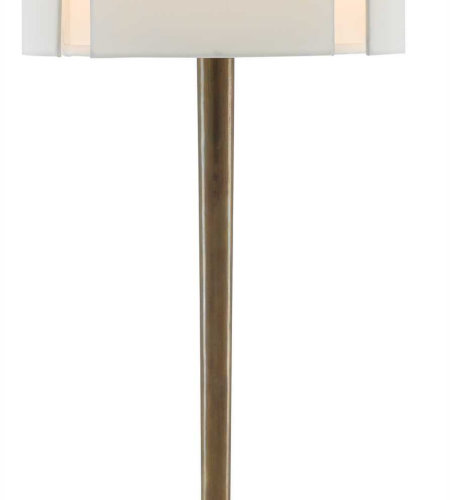 Currey & Company 6000-0243 Elie Table Lamp In Vintage Brass/Black