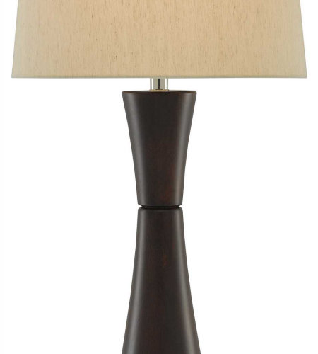 Currey & Company 6000-0245 Parlance Table Lamp In Walnut