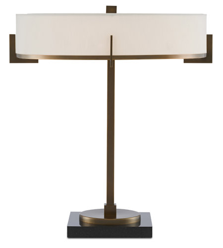 Currey & Company 6000-0438 Jacobi Table Lamp in Antique Brass/Black