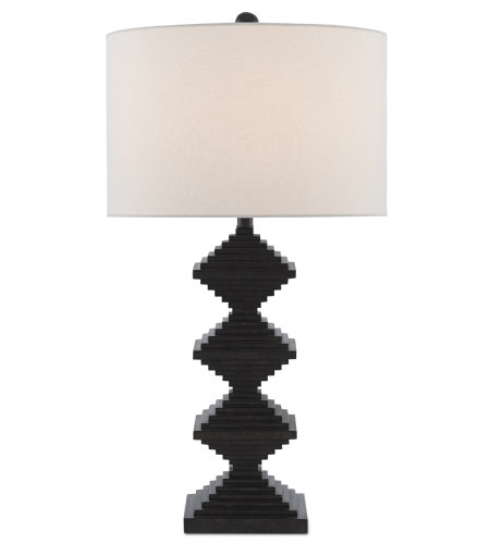Currey & Company 6000-0441 Pelor Black Table Lamp in Mole Black