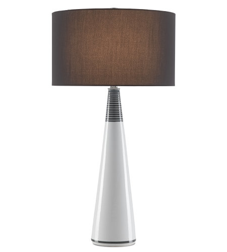 Currey & Company 6000-0454 Penhurst Table Lamp in White/Black