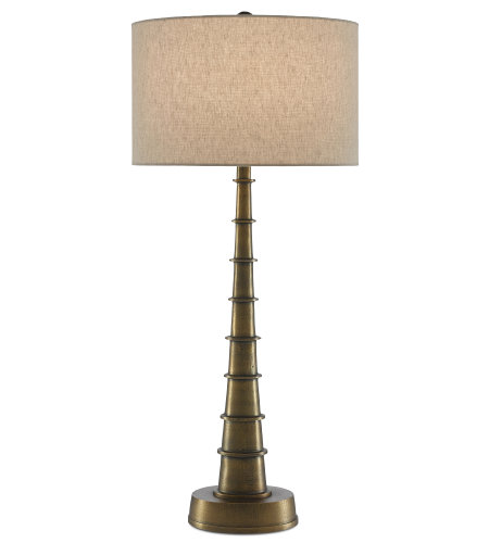 Currey & Company 6000-0483 Auger Large Table Lamp in Antique Brass