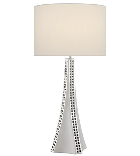 Currey & Company 6000-0507 Druid Table Lamp in Nickel