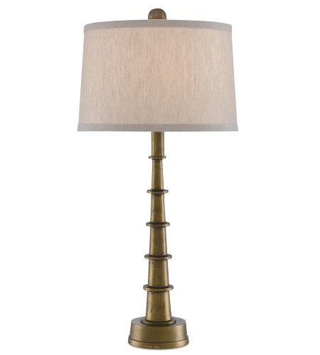 Currey & Company 6000-0510 Auger Small Table Lamp in Antique Brass