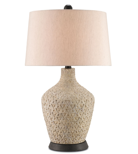 Currey And Company 6039 Annesville Table Lamp In Eggshell/Spanish Gilt