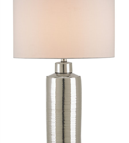 Currey And Company 6047 1 Light Calypso Table Lamp In Nickel/Silver