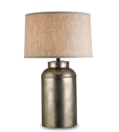 Currey And Company 6088 1 Light Pioneer Table Lamp In Antique Nickel