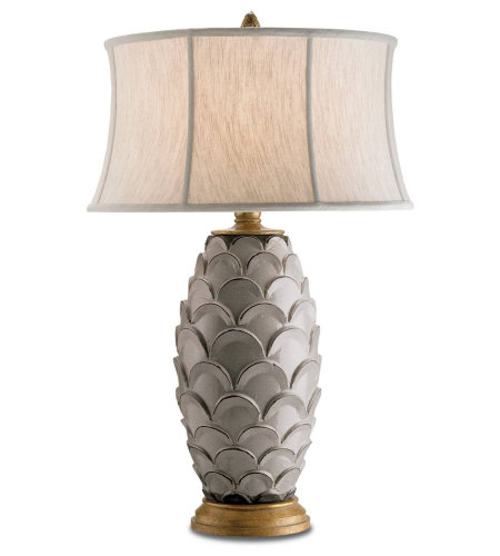 Currey & Company 6261 Demitasse Table Lamp in Antique White/Gold