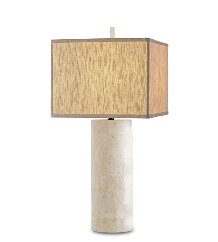 Currey And Company 6441 1 Light Vesta Table Lamp In Natural