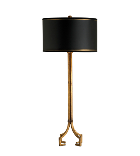 Currey And Company 6471 1 Light Artisan Table Lamp In Gold Leaf