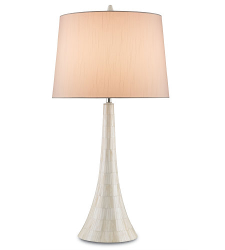 Currey & Company 6496 Snowdrift Table Lamp In Cream