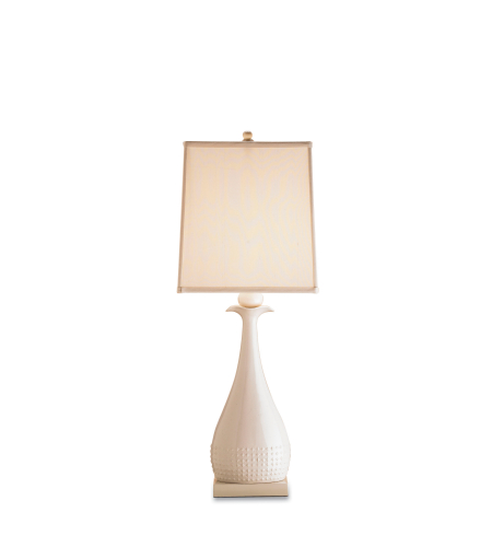 Currey And Company 6525 1 Light Ella Table Lamp In White