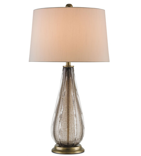 Currey And Company 6728 Starlight Table Lamp In Smoke/Antique Brass