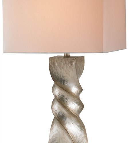 Currey And Company 6793 1 Light Danzey Table Lamp In Silver Leaf