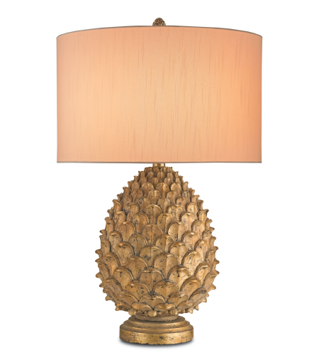 Currey And Company 6817 1 Light Royale Table Lamp In Anti Gold Leaf