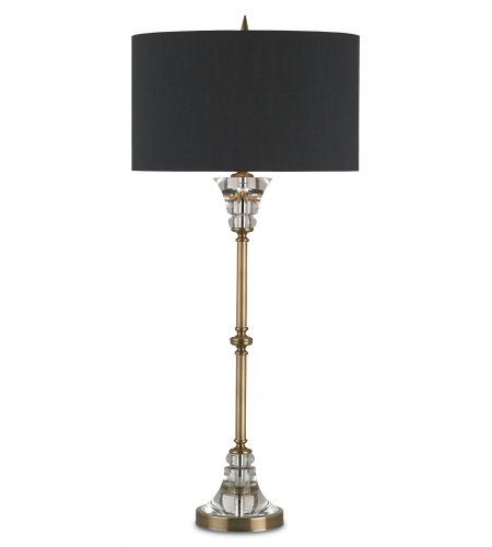 Currey & Company 6818 Encore Table Lamp in Coffee Brass/Clear
